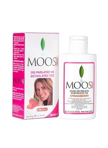 Moos MOOS Parlatıcı ve Beyazlatıcı Diş Tozu - Çilekli 50 gr Renksiz